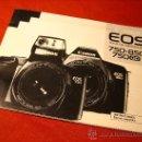 Cámara de fotos: MANUAL DE INSTRUCCIONES ORIGINAL DE LA CANON EOS 750-850-750 QD , EN CASTELLANO. Lote 24469138