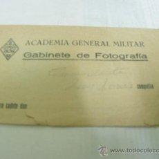 Cámara de fotos: + ACADEMIA GENERAL MILITAR ZARAGOZA ANTIGUO SOBRE PARA GUARDAR FOTOS. AÑOS 50. Lote 24738781