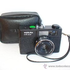 Cámara de fotos: CAMARA WERLISA COLOR NEGRA CON ESTUCHE.. Lote 26337072