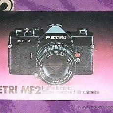 Cámara de fotos: CATALOGO PETRI MF2 - EN INGLES. Lote 26754509