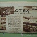 Cámara de fotos: ANTIGUA HOJA PUBLICIDAD : CONTAX - CÁMARA FOTOGRÁFICA. 1933. Lote 26277820