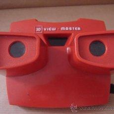 Cámara de fotos: VISOR ESTEREOSCOPICO 3D - VIEW MASTER ROJO + VISTAS PINOCHO -MADE IN BELGIUM . Lote 26318724