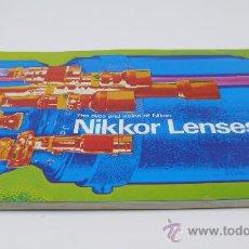 Cámara de fotos: CATÁLOGO NIKKOR LENSES, ÓPTICAS NIKON 15X21 CM.. Lote 26501448