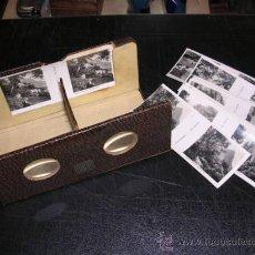 Cámara de fotos: VISOR ESTEREOSCOPICO ANTIGUO MARCA RELLEV CON LAS 24 VISTAS DE MONTSERRAT, COMPLETO !!!!. Lote 27557891
