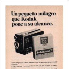 Cámara de fotos - PUBLICIDAD ANTIGUA. FOTOGRAFÍA. CINECÁMARAS KODAK INSTAMATIC. 1968. HOJA COMPLETA DE REVISTA. - 27689423