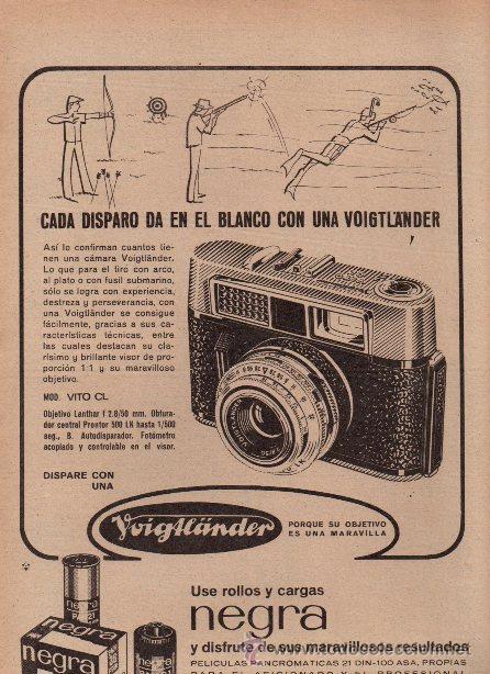 PUBLICIDAD ANTIGUA. FOTOGRAFÍA. VOIGTLÄNDER VITO CL. 1965. HOJA COMPLETA. (Cámaras Fotográficas - Catálogos, Manuales y Publicidad)