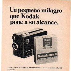 Cámara de fotos - PUBLICIDAD ANTIGUA. FOTOGRAFÍA. CINECÁMARAS KODAK INSTAMATIC. 1968. HOJA COMPLETA. - 27818853