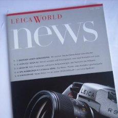 Cámara de fotos: LEITZ LITERATURA LEICA WORLD NEXS ENERO 2002, LEICA R9 C2 C3 M6 M7 APO SUMMICRON 90MM 28 PAGINAS . Lote 27938095