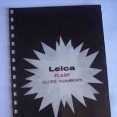 Cámara de fotos: LEITZ NEW YORK LITERATURA GUIA DE FLASH LEICA COMPLETO EN INGLES 8 PAGINAS.. Lote 27938270