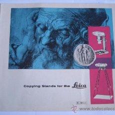 Cámara de fotos: LEITZ, INFORMACION ACCESORIOS REPORDUCCION LEICA, EN INGLES, EXCELENTE ESTADO.. Lote 27938423