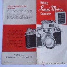 Cámara de fotos: LEITZ LITERATURA FOLLETO INFORMATIVO LEICA METER COMPLETO. Lote 28029638