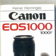 Cámara de fotos: CANON EOS 1000 - MANUAL DE 176 PÁGINAS. Lote 28160715