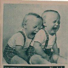 Cámara de fotos: PUBLICIDAD ANTIGUA. FOTOGRAFÍA. KODAK FILM. 1961.. Lote 28314856