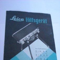 Cámara de fotos: LEITZ LITERATURA AUXILIAR REPRODUCCION DIN A4 A5 A6 AÑO 1953 EN ALEMAN COMPLETO . Lote 28692669
