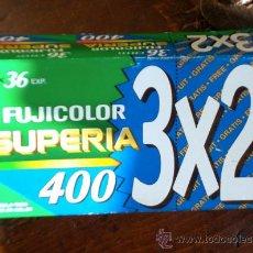 Cámara de fotos: PACK DE 3 CARRETES FUJI SUPERIA 400 ISO. Lote 28959643