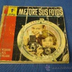Cámara de fotos: - ENCUADRE SUS FOTOS - ENCUADRE, LUCES, REVELADO - EDITORIAL BRUGUERA 1962 1ª EDICIÓN. Lote 29322115