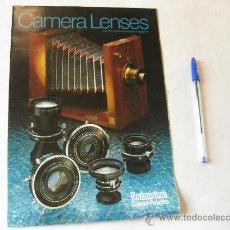 Cámara de fotos: CATALOGO DE OBJETIVOS RODENSTOCK - LENTES - 1976. Lote 29651435