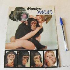 Cámara de fotos: CATALOGO DE VENTA DE LA MAMIYA M645. Lote 29720149