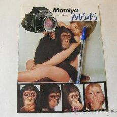 Cámara de fotos: NAMIYA M645 - CATALOGO DE VENTA EN ALEMAN. Lote 29720796