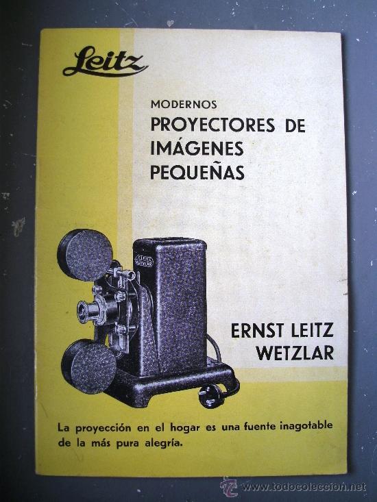 CATALOGO LEITZ, MODERNOS PROYECTORES DE IMAGENES PEQUEÑAS, ERNST LEITZ WETZLAR, 1933 (Cámaras Fotográficas - Catálogos, Manuales y Publicidad)