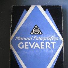 Cámara de fotos: MANUAL FOTOGRAFICO GEVAERT, PHOTO RODUITS GEVAERT S.A., BELGICA 1927. Lote 29821937