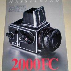 Cámara de fotos: FOLLETO PUBLICIDAD HASSELBLAD - BÍPTICO TAMAÑO DIN A4 INGLÉS 2000 FC. Lote 30499186