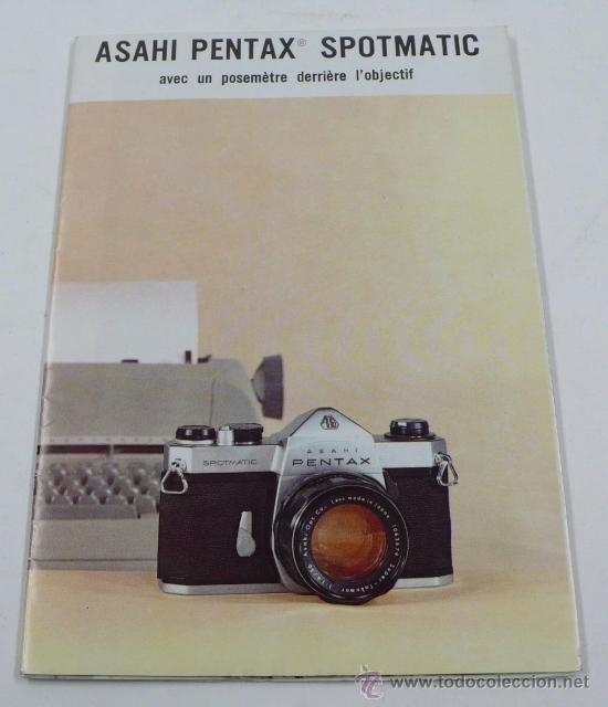 ASAHI PENTAX SPOTMATIC, EN FRANCÉS. DESPLEGABLE (Cámaras Fotográficas - Catálogos, Manuales y Publicidad)