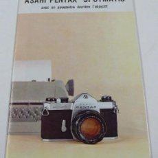 Cámara de fotos - asahi PENTAX spotmatic, en francés. Desplegable - 30599479