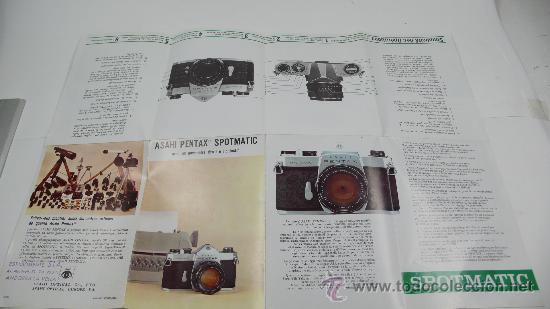 Cámara de fotos: asahi PENTAX spotmatic, en francés. Desplegable - Foto 2 - 30599479
