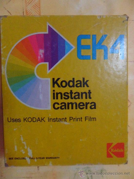 Cámara de fotos: Camara Kodak Instant EK4 En su caja original MADE IN USA 1976 como se ve fotos - Foto 8 - 31000802