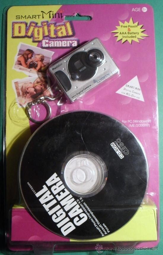 BONITA MINI CÁMARA DIGITAL MARCA SMART PUBLICIDAD DE CORREOS, CON CD-ROM FUNDA Y CABLE USB, ESTRENAR (Cámaras Fotográficas - Otras)