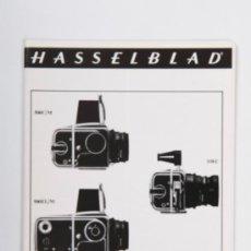 Cámara de fotos: CATÁLOGO DESPLEGABLE HASSELBLAD - BLACK FINISH LENSES - AÑO 1973. Lote 31753596