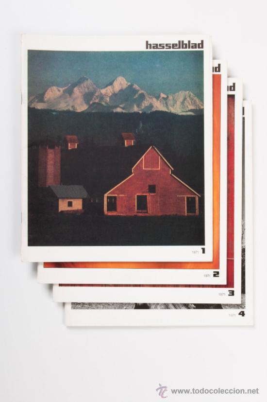 LOTE DE 4 FASCICULOS HASSELBLAD, AÑO 1971 - EN FRANCÉS (Cámaras Fotográficas - Catálogos, Manuales y Publicidad)