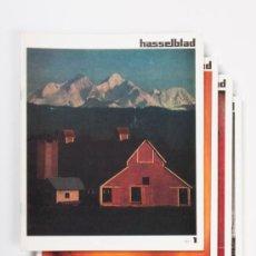 Cámara de fotos: LOTE DE 4 FASCICULOS HASSELBLAD, AÑO 1971 - EN FRANCÉS. Lote 31756008