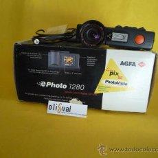 Cámara de fotos: AGFA E PHOTO 1280 MUY COMPLETO CAMARA CABLES Y ACCESORIOS. Lote 32061631