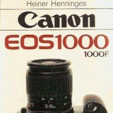 Cámara de fotos: CANON EOS 1000 /// HEINER HENNINGES. Lote 32506860