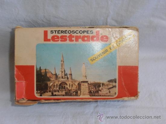 Cámara de fotos: ESTEROSCOPIO LESTRADE CAJA ORIGINAL SOUVENIR DE LOURDES AÑOS 70 CON - Foto 5 - 32636657