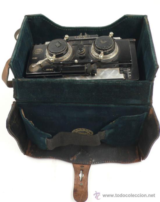 Cámara de fotos: Cámara Gaumont grand prix 1900. Para cristales 6x13 cm. Con placas y chasis, . - Foto 3 - 32565296