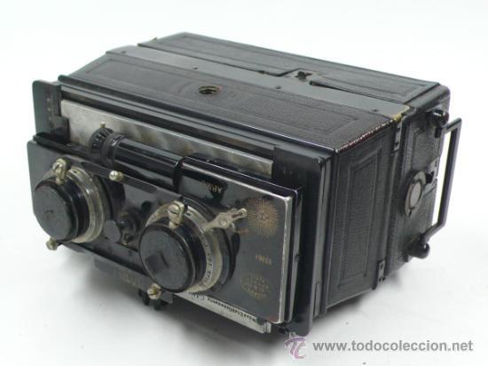 Cámara de fotos: Cámara Gaumont grand prix 1900. Para cristales 6x13 cm. Con placas y chasis, . - Foto 2 - 32565296