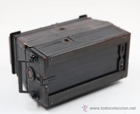 Cámara de fotos: Cámara Gaumont grand prix 1900. Para cristales 6x13 cm. Con placas y chasis, . - Foto 8 - 32565296