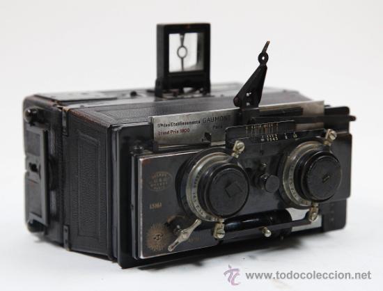 Cámara de fotos: Cámara Gaumont grand prix 1900. Para cristales 6x13 cm. Con placas y chasis, . - Foto 6 - 32565296