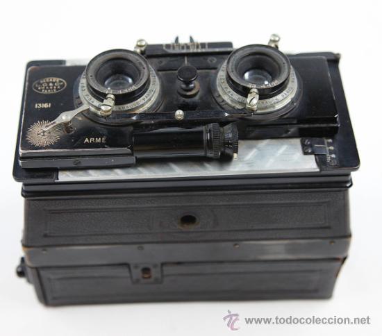 Cámara de fotos: Cámara Gaumont grand prix 1900. Para cristales 6x13 cm. Con placas y chasis, . - Foto 5 - 32565296