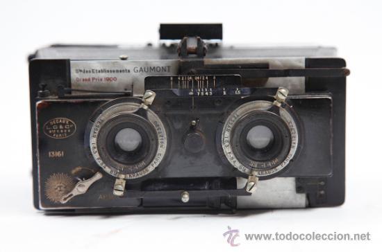 Cámara de fotos: Cámara Gaumont grand prix 1900. Para cristales 6x13 cm. Con placas y chasis, . - Foto 4 - 32565296