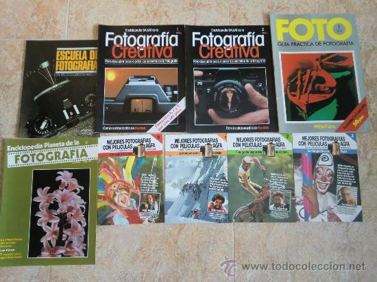 LOTE DE 9 CATÁLOGOS Y FOLLETOS DE FOTOGRAFÍA: AGFA, KODAK, ORBIS, PLANETA, PRISMA. NUEVOS (Cámaras Fotográficas - Catálogos, Manuales y Publicidad)