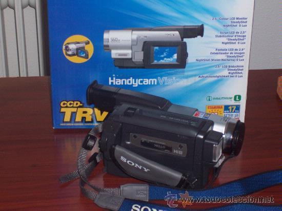 VIDEOCAMARA SONY MO:CCD-TRV78E , VIDEO HI8MM , GRABACION NOCTURNA 0 LUX . POCO USO (Cámaras Fotográficas - Otras)