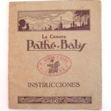 Cámara de fotos: LA CAMARA PATHE-BABY INSTRUCCIONES. 1923. ESPAÑOL. Lote 33107650