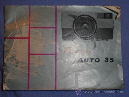FOLLETO CAMARA RICOH AUTO 35 (Cámaras Fotográficas - Catálogos, Manuales y Publicidad)