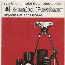 Cámara de fotos - Asahi Pentax: folleto de objetivos y accesorios - 34028270