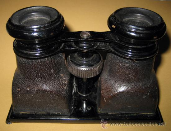 Cámara de fotos: Visor para fotos estereoscópicas en cristal principios del s. XX - Foto 2 - 35538674