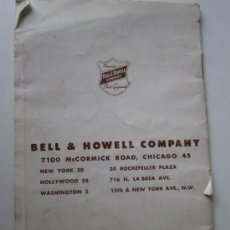 Cámara de fotos: BELL HOWELL COMPANY INSTRUCCIONES 8 MM. Lote 37019147